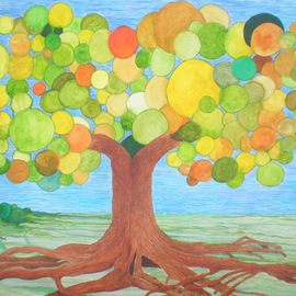 Eve Co, SQUID BUBBLE TREE, 2013, Original Watercolor, size_width{SQUID_BUBBLE_TREE-1374890159.jpg} X 18 x  inches