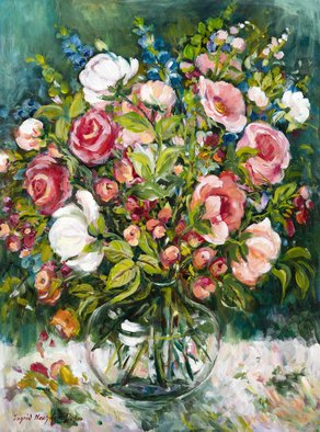 Ingrid Neuhofer Dohm; Roses, 2014, Original Painting Acrylic, 30 x 40 inches. Artwork description: 241 This is an original acrylic on canvas floral still life painting 40 x 30 inches. ...