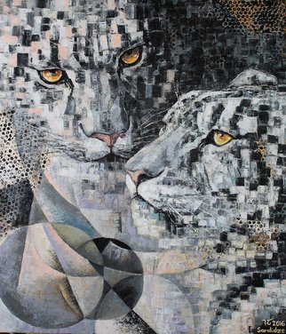 Ia Saralidze, Leopards, 2016, Original Painting Oil, size_width{Leopards-1495193687.jpg} X 61 x  inches