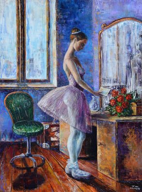 Ia Saralidze, , , Original Painting Oil, size_width{ballerina_with_a_letter-1483762123.jpg} X