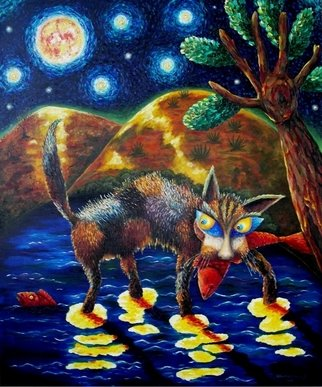 Alfred Shaimordanov; Night Hunter, 2005, Original Painting Oil, 120 x 100 cm.