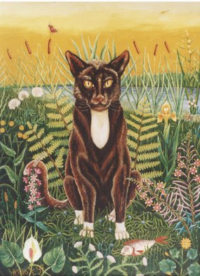 Alfred Shaimordanov; Socratus The Cat, 1997, Original Painting Oil, 93 x 114 cm. Artwork description: 241 cat ...