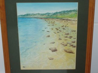 Cathy Gent; West Australia, Coral Bay, 2008, Original Pastel Oil, 1 x 1 inches.