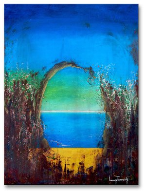 Ioannis Tsaousidis; The Seaside, 2015, Original Painting Acrylic, 23.6 x 31 inches.