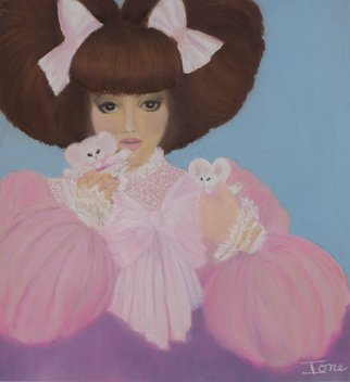 Ione Citrin; Pink Lady, 2012, Original Pastel, 22 x 24 inches. Artwork description: 241   22