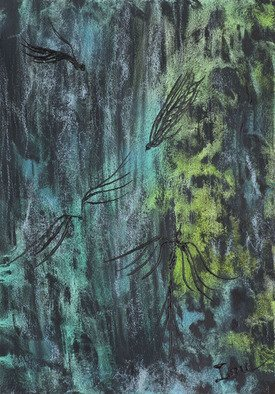 Ione Citrin; Waterfall, 2011, Original Watercolor, 24 x 14 inches. Artwork description: 241  20