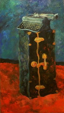 Irakli Chkheidze; Old Sunds , 2011, Original Painting Oil, 50 x 105 cm.