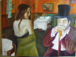 Irina Kharchenko; Cafe, 2005, Original Painting Oil, 24 x 18 inches. Artwork description: 241  oil on canvas ...