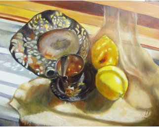 Irina Kharchenko; Lemons, 2005, Original Painting Oil, 18 x 14 inches. Artwork description: 241  oil on wood ...