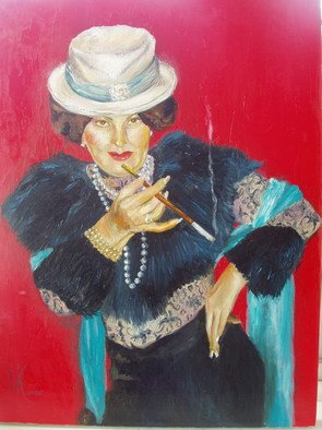 Irina Kharchenko; Madam, 2005, Original Painting Oil, 14 x 18 inches. Artwork description: 241  oil canvas ...