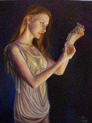 Irina Kharchenko; Pearls, 2005, Original Painting Oil, 16 x 20 inches. Artwork description: 241  oil on canvas ...