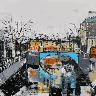Irina Rumyantseva; The Canal, 2015, Original Painting Acrylic, 30 x 30 inches. Artwork description: 241  A unique style of cityscape combining classic fine art with modern abstract and contemporary. Deep edge box canvas with painted sides, ready to hang.  ...