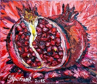 Irina Tretyak; Pomegranate Depth, 2014, Original Painting Oil, 50 x 70 inches. Artwork description: 241  We always had something like this. It might have seemed that we were conducting a dialogue, but infact, those were two monologues that sometimes overlapped. Albert Sanchez Pinol ...
