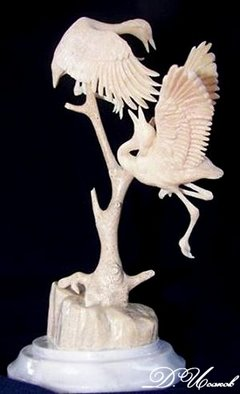 Denis Isakov; Dance, 2007, Original Sculpture Other, 11 x 15 cm. Artwork description: 241   Bone of an ancient whale ( basilosaurus)Carving / manual jobTo order  ...