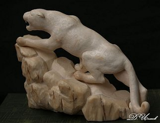 Denis Isakov; Jaguar, 2006, Original Sculpture Other, 6 x 13 cm. Artwork description: 241   Tusk of a mammothSculpture manufacturing to order   ...