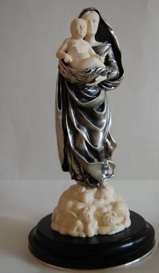Denis Isakov; The Madonna, 2006, Original Sculpture Other, 9 x 20 cm. Artwork description: 241  silver, mammoth tusk  ...