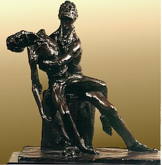 Martin Glick; AIDS Pieta, 2003, Original Sculpture Bronze, 18 x 18 inches. Artwork description: 241         This sculpture is one part of an AIDs monument that I have designed.  The whole of the sculpture would show all ways one can be infected with this dreaded disease.    ...
