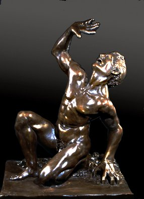 Martin Glick; The Marking of Cain, 2010, Original Sculpture Bronze, 20 x 35 inches. Artwork description: 241