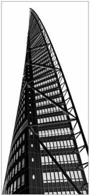 Bengt Stenstrom; Turning Torso Malmoe Sweden, 2008, Original Other, 140 x 250 cm. Artwork description: 241 Photo, edited and printed, black on white background, on 4 mm high quality acrylic plastic resinplexiglass.  To be lit up from behind.  Lighting not included. ...