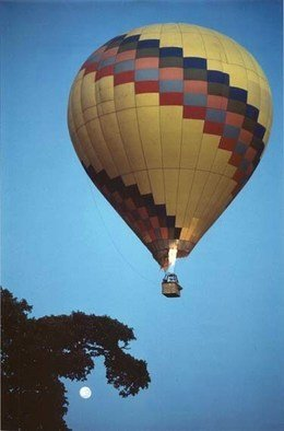 Bengt Stenstrom; Masaii Mara Balloon, 2000, Original Photography Color, 20 x 28 inches. Artwork description: 241 Masaii Mara balloon. Size is just an example, on foamboard. Or unmounted. ...