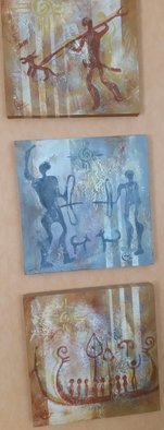 Bengt Stenstrom; Warriors 3 Paintings, 2016, Original Painting Acrylic, 16 x 16 inches. Artwork description: 241 3 paintings sold together only. By Lena Leja Jacobson   friend of mine  . ...