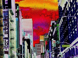 Howard Lancaster; Broadway And 7th, 2009, Original Printmaking Other, 24 x 16 inches. Artwork description: 241   Digitally enhanced photo    ...
