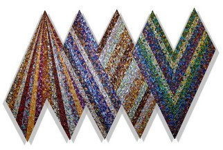 Jack Reilly; XLVI In 4 Sets Of Two, Wi..., 2008, Original Painting Acrylic, 96 x 60 inches. Artwork description: 241   acrylic polymers and metallic pigment on shaped canvas, (c) 2009   ...