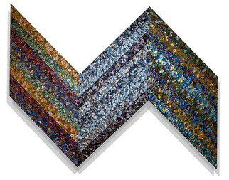 Jack Reilly; XXIV In Tres Tria: Recuso..., 2008, Original Painting Acrylic, 58 x 46 inches. Artwork description: 241   acrylic polymers and metallic pigment on shaped canvas, (c) 2009  ...