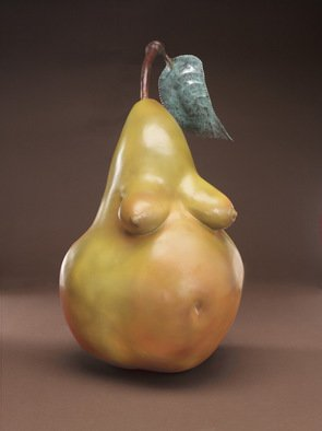Jack Hill; Pear, 2002, Original Sculpture Bronze, 8 x 14 inches. Artwork description: 241  The full title of this piece is Fruit of the Womb. ...
