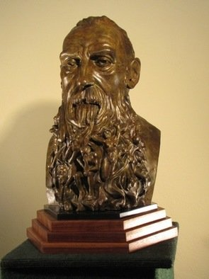 Jack Hill; Rodin, 2011, Original Sculpture Bronze, 10 x 19 inches. Artwork description: 241   Interpretive portrait of August Rodin ...