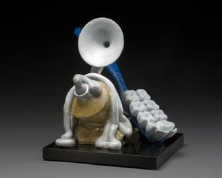 Jack Hill; Tuba Toothpaste, 2008, Original Sculpture Bronze, 10 x 11 inches. Artwork description: 241    two lovers sculpted as spoons in an amorus embrace    A tooth brush as teeth and toothpaste squeezed into a tuba shape  ...