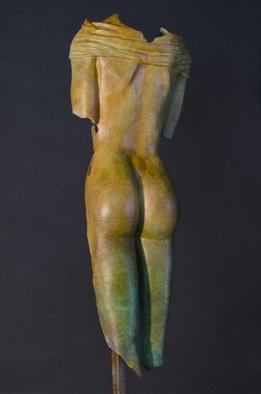 Jack Hill; Female Torso Back, 2015, Original Sculpture Bronze, 6 x 17 inches.