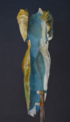 Jack Hill; Female Torso Front, 2015, Original Sculpture Bronze, 6 x 17 inches.