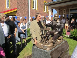 Jacques Malo; Bruno Cote, 2011, Original Sculpture Bronze, 4 x 6 feet. Artwork description: 241     Monument a la memoire du peintre canadien Bruno Cote. Devant la galerie d'art Art& Style de Baie St- Paul, Quebec, Canada.  ...