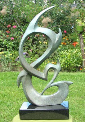 Jacques Malo; Signature, 2013, Original Sculpture Bronze, 12 x 18 inches.
