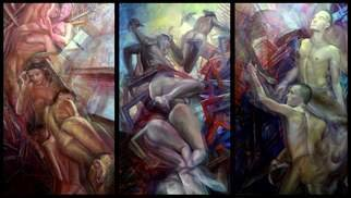 Jakub Kujawa; Muse Lesson, 2007, Original Painting Oil, 360 x 200 cm. Artwork description: 241  Oil on board 360X200 cm ...