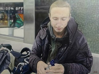 James Earley; Father, 2020, Original Painting Oil, 102 x 78 cm. Artwork description: 241 aEURoeFatheraEUR by James Earley is a painting of Matthew a young homeless man living on the streets of Southampton in the UK. This is the second painting of Matthew by James Earley, the first titled aEURoeMatthewaEUR.aEURoeI met Matthew in 2017 and then again in 2018. Matthew ...