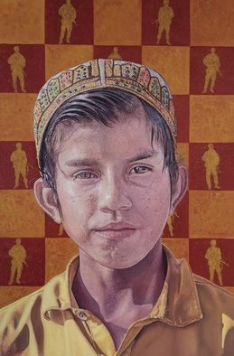 James Earley; I See The Man, 2020, Original Painting Oil, 40 x 60 cm. Artwork description: 241 Every where the Afghan child looks he sees conflict, he sees a threat. Imagine living your whole life with that fear. I can not begin to imagine it. I wanted to show an Afghan child proud of his heritage, proud of his country and his people yet ...