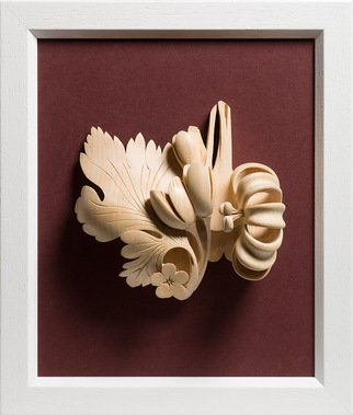 James Mcloughlin; Still Life, 2011, Original Sculpture Wood, 8 x 11 inches. Artwork description: 241   This was inspired by the great tradition of music that is with all of us threw out the ages. Its carved out of Limewood.       ...