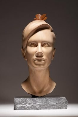 James Mcloughlin; Youth, 2011, Original Sculpture Wood, 8 x 10 inches. Artwork description: 241  Youth- Carved out of Limewood and Yew with a Polished Limestone base. ...