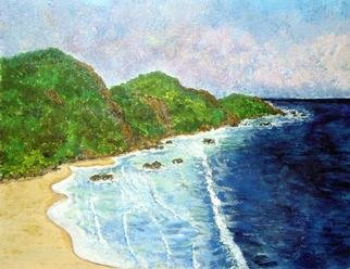 James Parker; Mexico Coastline, 2003, Original Painting Acrylic, 11 x 9 inches. Artwork description: 241 A long section of Pacific coastline found in sourthern Mexico.  ...