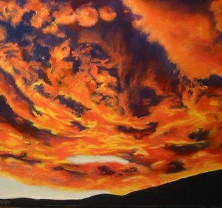 Jane Friday; Sunrise Over Boulder Colo..., 2008, Original Pastel, 40 x 30 inches. Artwork description: 241  Sun rising over the foothills in Boulder, Colorado. ...