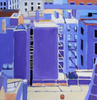 Jane Mcnichol; Bathouse, 2013, Original Painting Oil, 20 x 20 inches. Artwork description: 241  This is a view of the Bathouse located next door to my Manhattan apartment ...