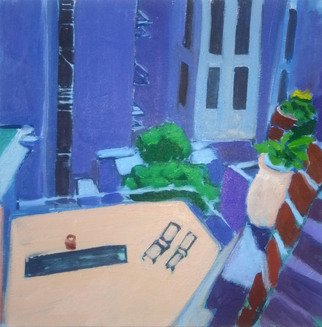 Jane Mcnichol; Six Flights Up, 2012, Original Painting Oil, 20 x 20 inches. Artwork description: 241   This is a view to the East of my Manhattan apartment ...