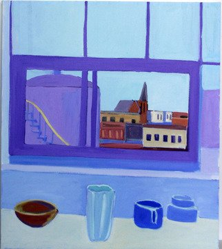 Jane Mcnichol; Vase Bowl Cup, 2012, Original Painting Oil, 24 x 30 inches. Artwork description: 241   This is a still life painting of a vase, bowl and cup by my Brooklyn studio window ...