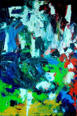Jan Skorb; Abstract A, 2006, Original Painting Acrylic, 24 x 36 inches. Artwork description: 241 Donation for Gates Org. ...