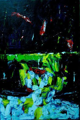 Jan Skorb; Abstract B, 2006, Original Painting Acrylic, 24 x 36 inches.