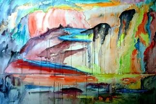 Jan Skorb; Montain King Cave, 1995, Original Watercolor, 81 x 62 inches. Artwork description: 241 painted without any project, just came like poetry....
