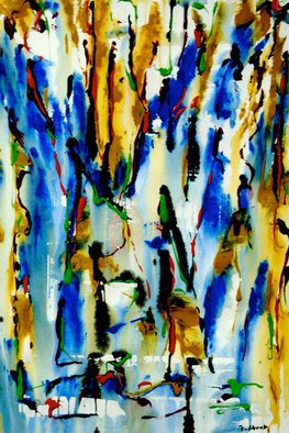 Jan Skorb; Rainforest, 2007, Original Painting Acrylic, 18 x 27 inches.