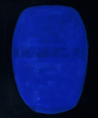 Jan-Thomas Olund; Blue Light And Darkness, 2017, Original Painting Oil, 38 x 46 cm. Artwork description: 241 Oil on canvas.  A shape the blue color may be adazzling darkness or the coloring of colors with light and darkness...